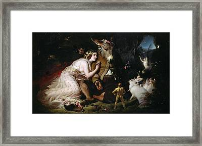Scene From A Midsummer Night's Dream Framed Print