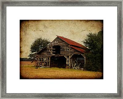 Scene From A Southern Country Road Framed Print by Carla Parris