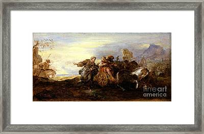 Scene From Ancient History Framed Print