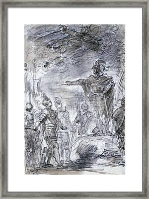 Scene From Ariosto's Orlando Furioso Framed Print