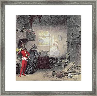 Scene From Faust By Gounod Framed Print