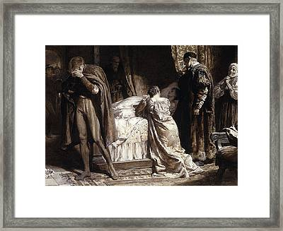 Scene From Romeo And Juliet Framed Print
