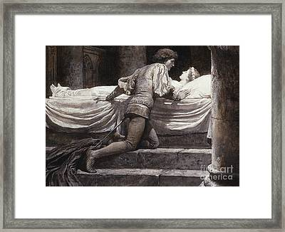 Scene From Romeo And Juliet - The Tomb  Framed Print by Frank Dicksee
