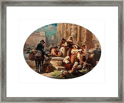 Scene From The Marketplace Framed Print by MotionAge Designs