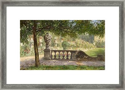 Scene From The Mirabell Park Framed Print