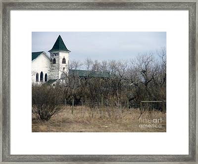 Scene From The Praries Framed Print by Sonya Chalmers