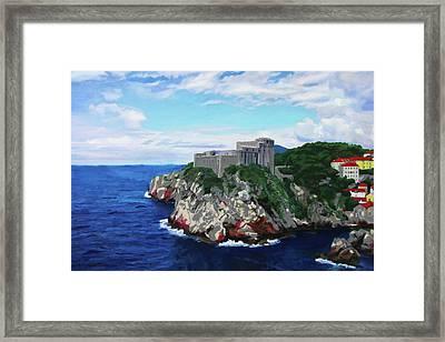 Scene From The Sea Framed Print
