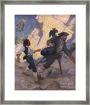 Scene From Treasure Island Framed Print