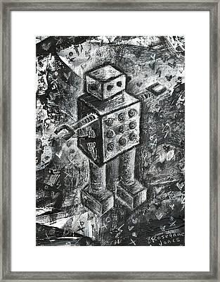 Scene Kid Robot Framed Print by Roseanne Jones