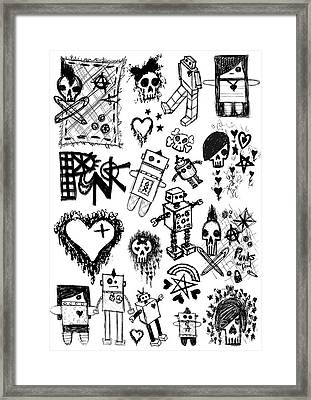 Scene Kid Sketches Framed Print