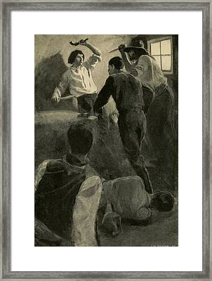 Scene Of Adventure In The Life Of Young Framed Print