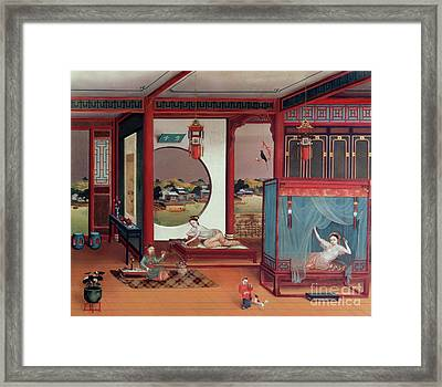 Scene Of An Interior Framed Print by Chinese School
