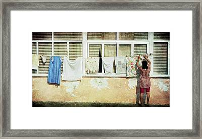 Scene Of Daily Life Framed Print by Vittorio Chiampan