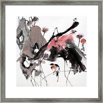 Scene Of Snow Framed Print by Ming Yeung