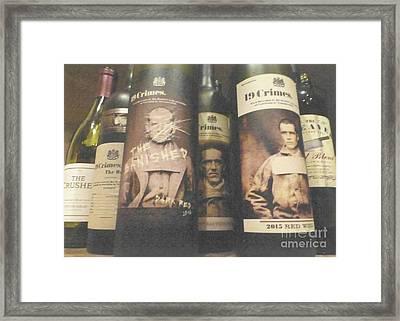 Scene Of The Crimes Framed Print by Barbie Corbett-Newmin