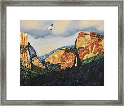 Scenery And Birds Framed Print by Suzanne  Marie Leclair