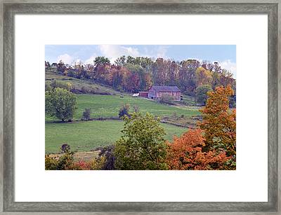 Scenic Amish Landscape 1 Framed Print by SharaLee Art