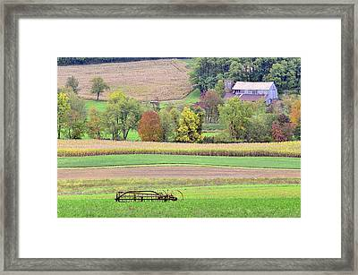 Scenic Amish Landscape 4 Framed Print by SharaLee Art