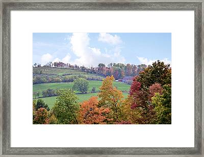 Scenic Amish Landscape 5 Framed Print by SharaLee Art