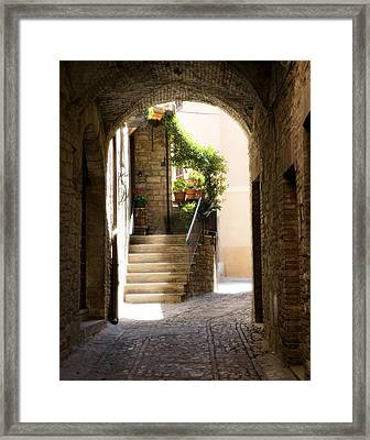 Scenic Archway Framed Print by Marilyn Hunt