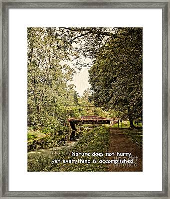 Scenic Bucks County Inspiration Framed Print