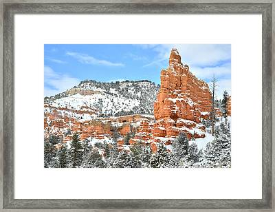 Scenic Byway 12 - Red Canyon Framed Print