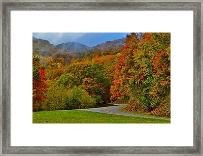 Scenic Drive Framed Print by Dennis Nelson
