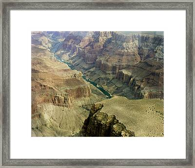 Scenic Grand Canyhon And Colorado River Framed Print by M K  Miller