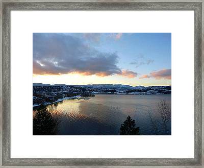 Framed Print featuring the photograph Scenic Lake Country by Will Borden
