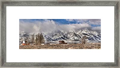 Framed Print featuring the photograph Scenic Mormon Homestead by Adam Jewell