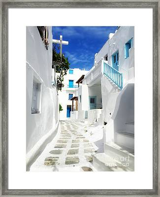 Scenic Mykonos Framed Print by HD Connelly