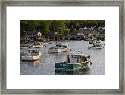 Framed Print featuring the photograph Scenic New Harbor Maine by Juergen Roth