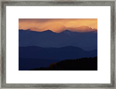 Scenic Northern Rockies Of British Columbia Framed Print