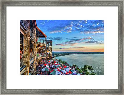 Scenic Oasis Sunset  Framed Print by Tod and Cynthia Grubbs