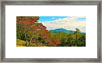 Scenic Overlook Blue Ridge Parkway Framed Print
