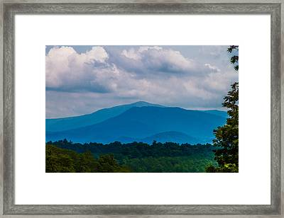 Scenic Overlook - Smoky Mountains Framed Print by Barry Jones