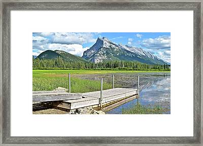 Scenic Stop Along Vermillion Lakes Framed Print