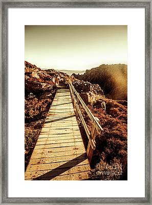 Scenic Summit Boardwalk Framed Print