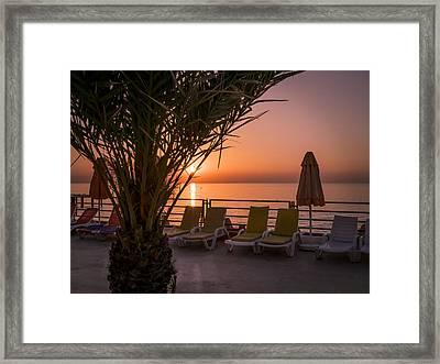 Scenic Sunrise Framed Print by Zina Stromberg
