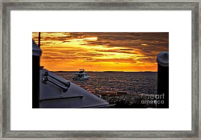 Scenic Sunset On The Keys Framed Print by Dieter  Lesche