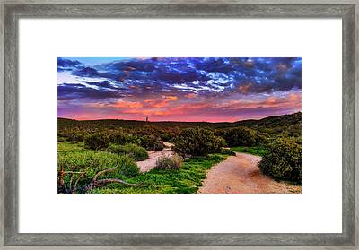 Framed Print featuring the photograph Scenic Trailhead by Anthony Citro