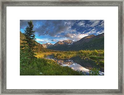 Scenic View Of Eagle River Valley Framed Print by Michael Jones