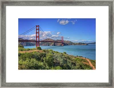 Scenic View Of Golden Gate Bridge - San Francisco, Ca Framed Print