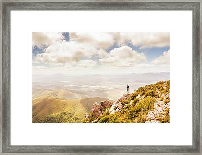 Scenic View Of Mt Zeehan, Tasmania, Australia Framed Print by Jorgo Photography - Wall Art Gallery