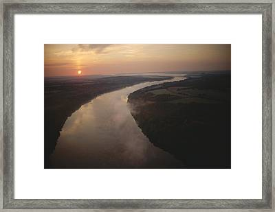 Scenic View Of The Potomac River Framed Print by Sam Abell