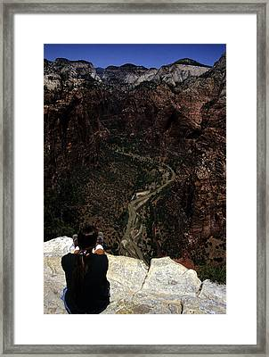 Scenic View Of Zion National Park Framed Print by Stacy Gold