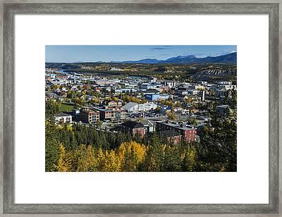Scenic View Over Whitehorse, Yukon Framed Print