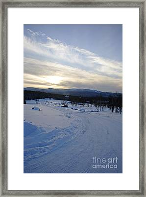 Scenic Vista From Marshfield Station In The White Mountains New Hampshire Usa Framed Print by Erin Paul Donovan