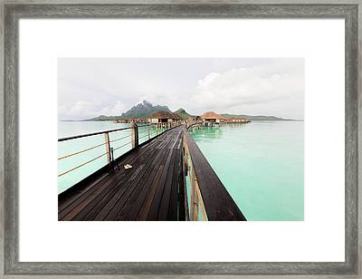 Scenic Walk To The Bungalow Framed Print