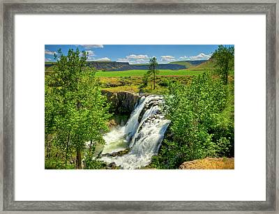 Scenic White River Falls Framed Print by Connie Cooper-Edwards